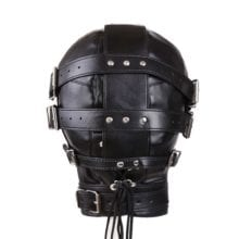 Kinky Metal Stud Finish With Fetish Bondage Leather