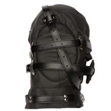 Leather Bondage Hood With Blindfold For Couples