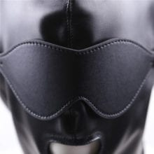 PU Leather Hood With Blindfold