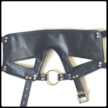 Leather Harness Fetish Mask With Ring Gag