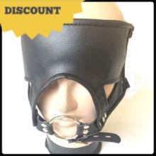 Leather Harness Fetish Mask Ring Gag Adult Games Bondage Restraints Slave Bdsm Hood Blindfold Mouth Gag Sex Toys For Couples