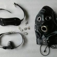 Full Head Harness Mask With Fetish Bondage Hood