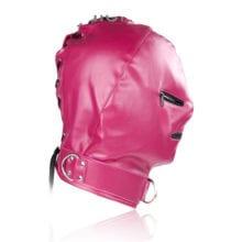 Teasing Fetish Mask Hood Cap With Blindfold
