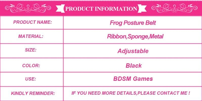 Frog bdsm bondage restraints flogger Posture belt handcuffs ankle cuff sex toy adult products sex toys for couples sex furniture