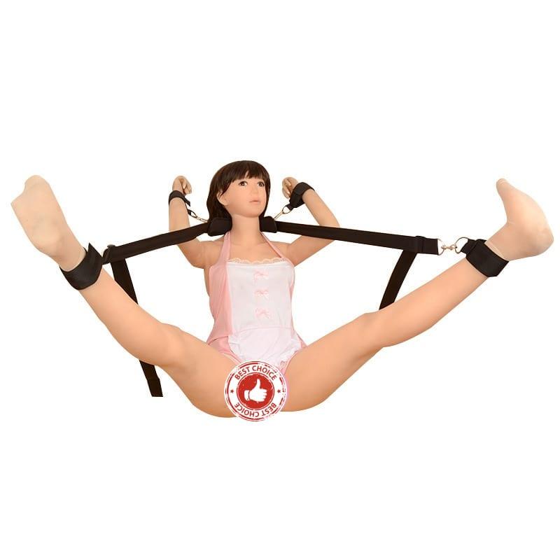 Meselo Sex Bondage BDSM Sex Game Toy, Leg Open Restraints Neck Handcuffs Ankle Cuff Straps, Adult Fun Games Sex Toys for Couples