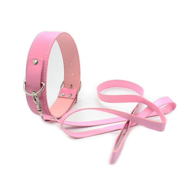 Neck Collars with Leash Fetish S&M Slave Neck Cuffs BDSM Bondage Restraints PU Leather Sex Product for Couples Sex Toy Women Men