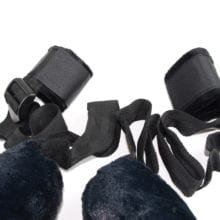 Plush Pillow Round Neck Collar With Handmade Leg Cuffs