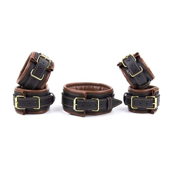 Sex SM Game PU Leather Retro Adjustable Handcuffs Restraints Ankle Cuff Restraints BDSM Bondage Slave Adult Sex Toys for couple