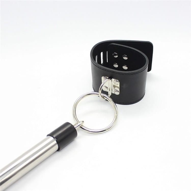 Erotic Stainless Steel Unisex Hand Ankle Spreader Bar Bondage Set Sex Toys Slave Game Wrist Ankle Bondage Restraints Device