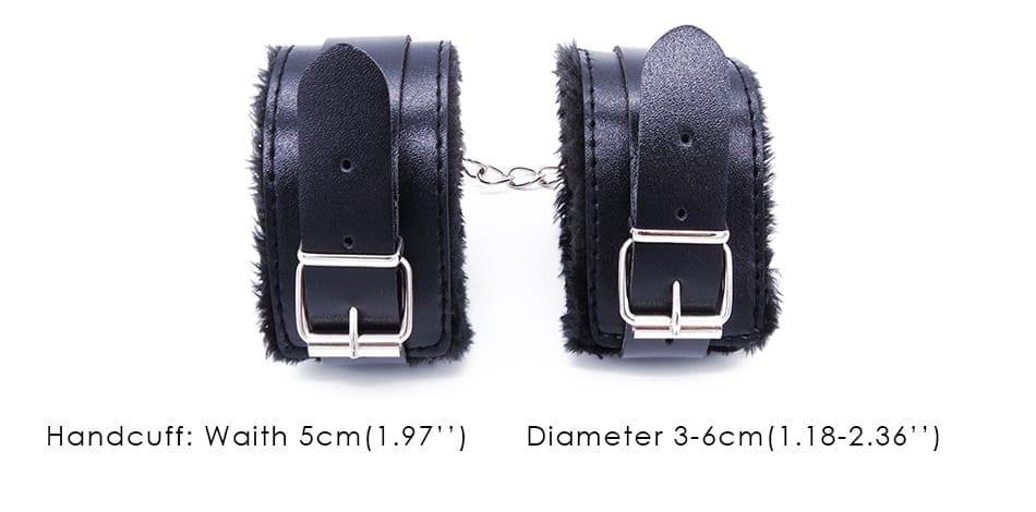 DOMI 11pcs/Set Handcuffs, Footcuffs, Anal Plug, Vibrator Dildo Adult Game Erotic Toy Women Fetish Bondage Sex toys
