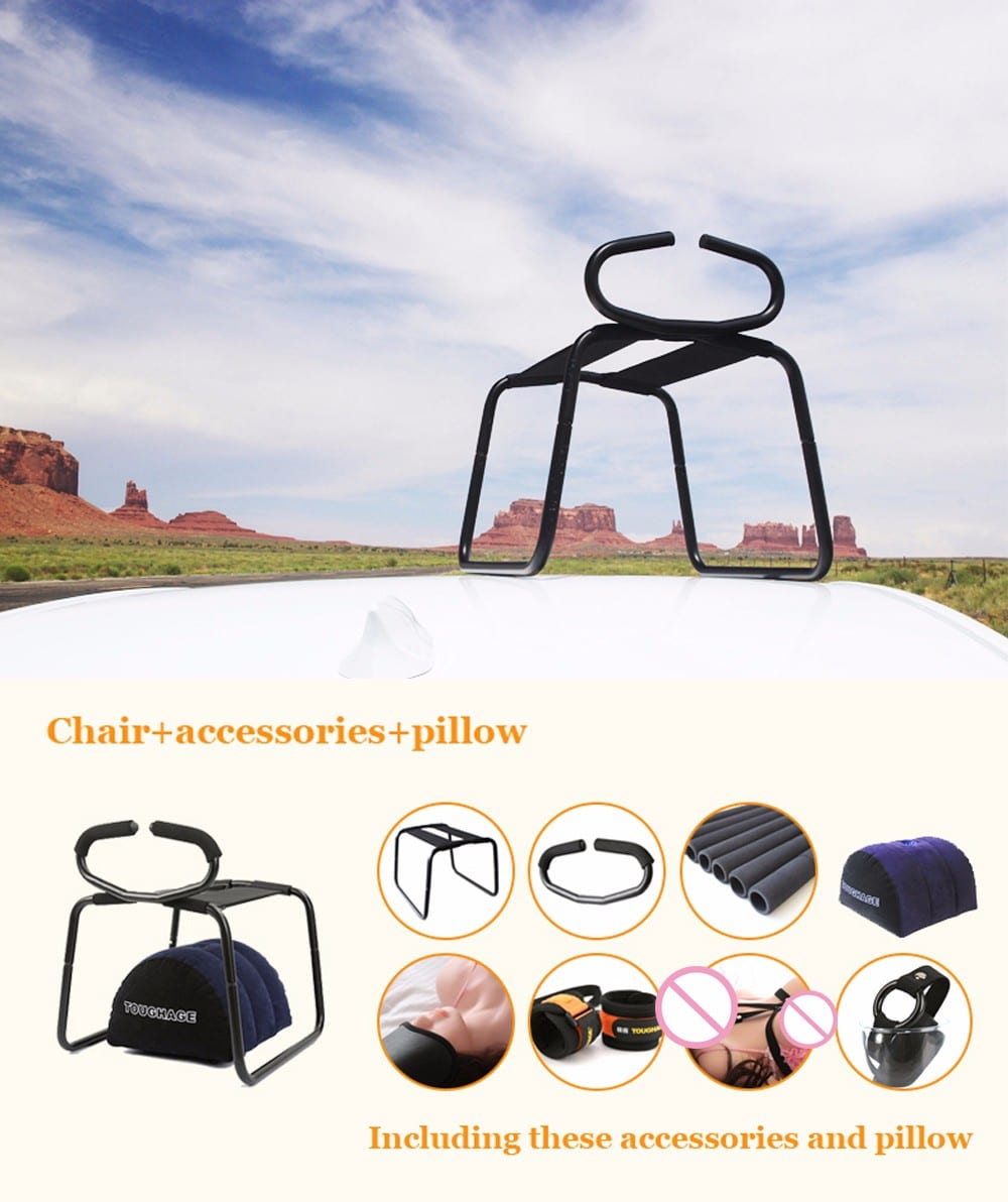 TOUGHAGE T- PF3216 Bounce Stool No Gravity G-Spot Love Sex Chair with Handrail and Inflatable Pillow,Sex furniture Adult Product