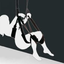 Adult Sex Swing Chairs Furniture Love Door Swing Sex Toys for Couples Restraint Fetish Bondage Sex Products black/pink
