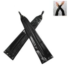 Adult Sexy Lady Gloves Fetish Faux Leather Fingerless Elbow Length Black Glove Latex Exotic Evening Party Prom BDSM Sex game
