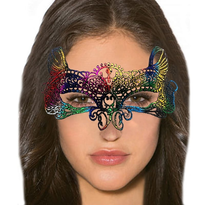 Glamorous Colorful Sexy Lace Eye Mask Erotic Toys For Women Sex Accessories Erotic Lingerie Women Adult Games Party Masks