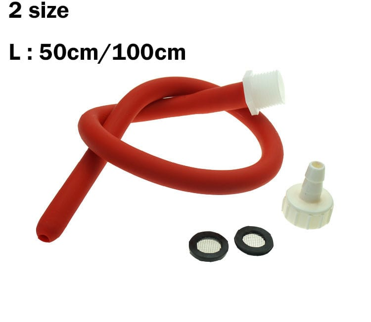 Silicone Hollow Butt Plug Powerful Anal Speculum Dilator With 50/100cm Red Rubber Enema Tube Anal Cleaner Sex Toys For Men Gay