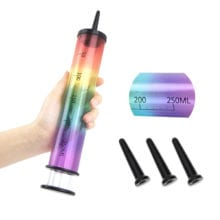 250ml Rainbow Anal Enema Cleaner Large Syringe Vagina Wash Medical Enema Anal Pump Cleaning Plugs Butt Plug Sex Toys for Couples