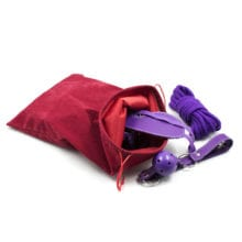 Morease Sex Toy Storage Bag Drawstring Flannel For vibrator Anal Sexy Toy Bondage BDSM Secret Sex Tool Organizer Pouch