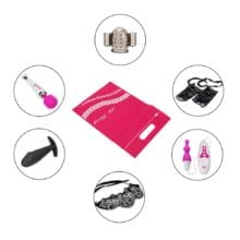 IKOKY Discreet Bags for Vibrator Penis Anal Plug Secret Storage Cover Sexy Dildo Hidden Pouch Sex Toys Bag