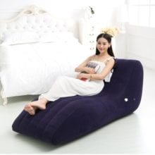 Flocking S-type Position Sex Furniture For Pairs