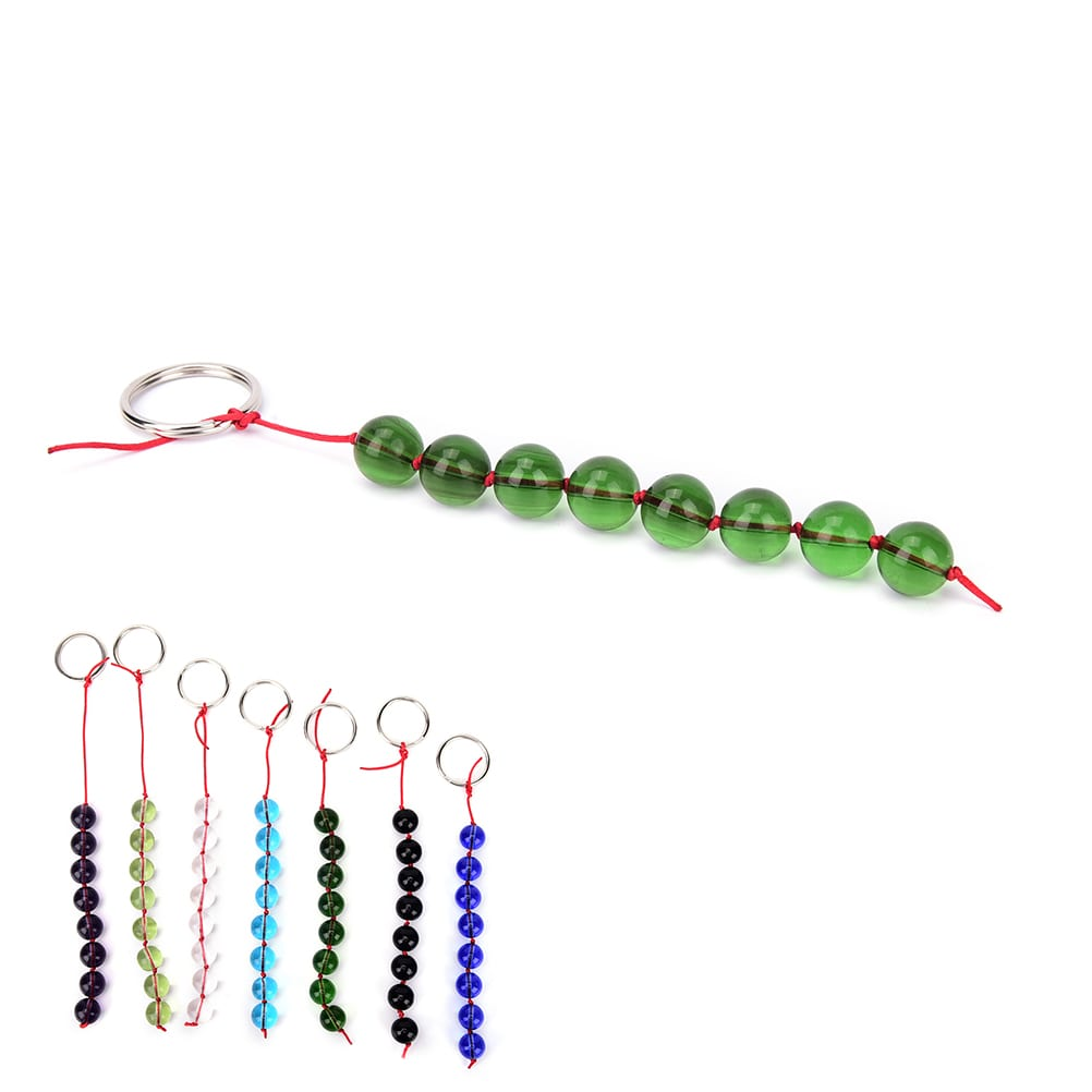 JETTING-Glass Anal Beads Smooth Crystal Balls Butt Plug Sex Toys for women men gay,Anal Stimulator Adult Erotic Products