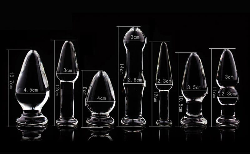 1Pc Glass Anal Butt Plugs Crystal Dildos Beads Ball Erotic Stimulator Fake Penis Female Masturbate Sex Toys for Couples