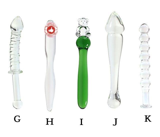 Exquisite Glass Dildo Anal Plug Flirt Masturbator Sex Tools Anal Beads Dildos Butt Plug Glass Penis Sex Toys For Woman Men Gay