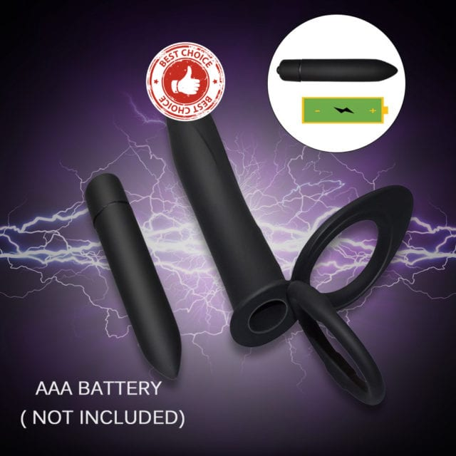 Double Penetration Vibrator Sex Toys Penis Strapon Dildo Vibrator, Strap On Penis Anal Plug for Man, Adult Sex Toys for Beginner
