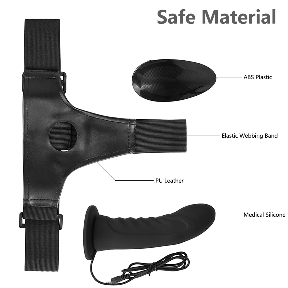 Erotic Silicone Multi Speed Strap-on Dildo Vibrator Men Hollow Strap on Penis Harness Lesbian Strapon Dick Sex Toys for Couples