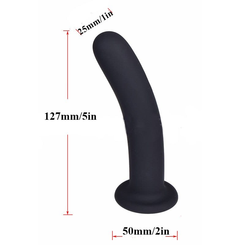 Black SILICONE Strap On Dildo Dong Vaginal Anal Soft Suction Cup,Adult Sex Toys For Woman Lesbian