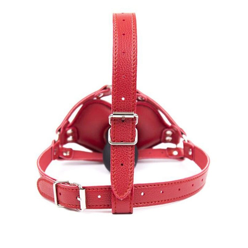 Penis Gag for Women Open Mouth Dildo Gag Adult Game Head Harness PU Leather Bondage Restraints Sex Product Oral Erotic Sex Toy