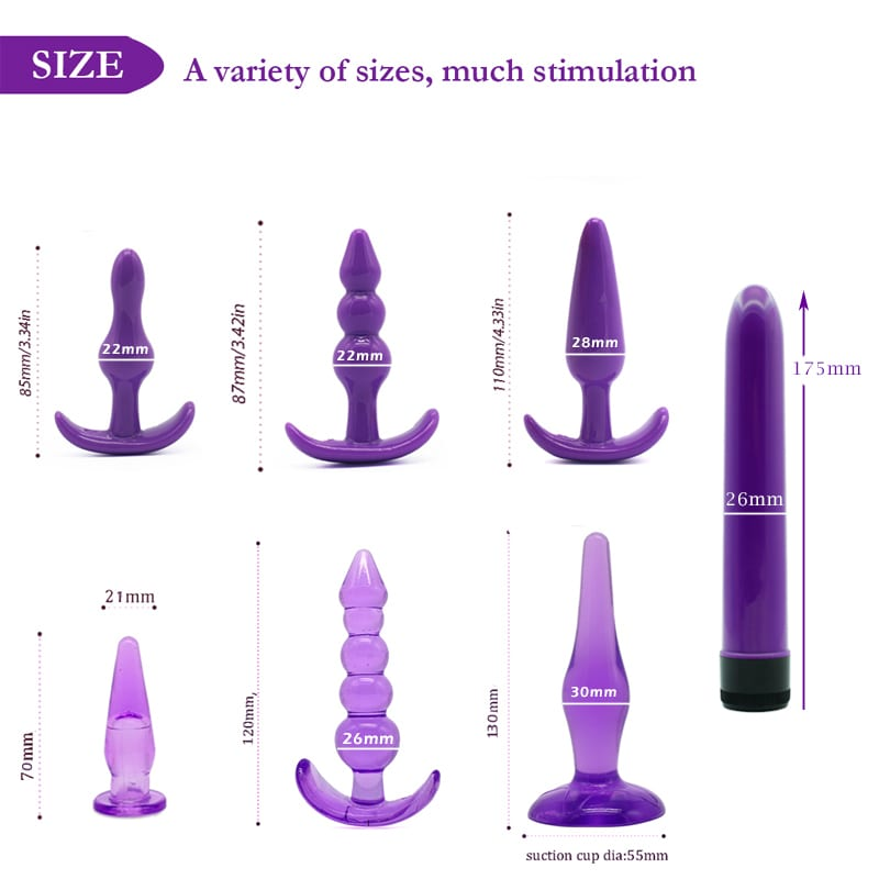 Anal plug Vibrator Sex Toys for adults,Butt Plugs Dildo Vibrator for men Anal Masturbation climax smooth&soft anal toys