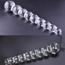 Crystal Beaded Dong For Anal Fixation