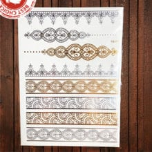 Sexy Gold Color Temporary Tattoo For Women