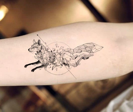 Waterproof Temporary Tattoo fox wolf wolves whale owl geometric animal tatto flash tatoo fake tattoos for girl women man kid 7
