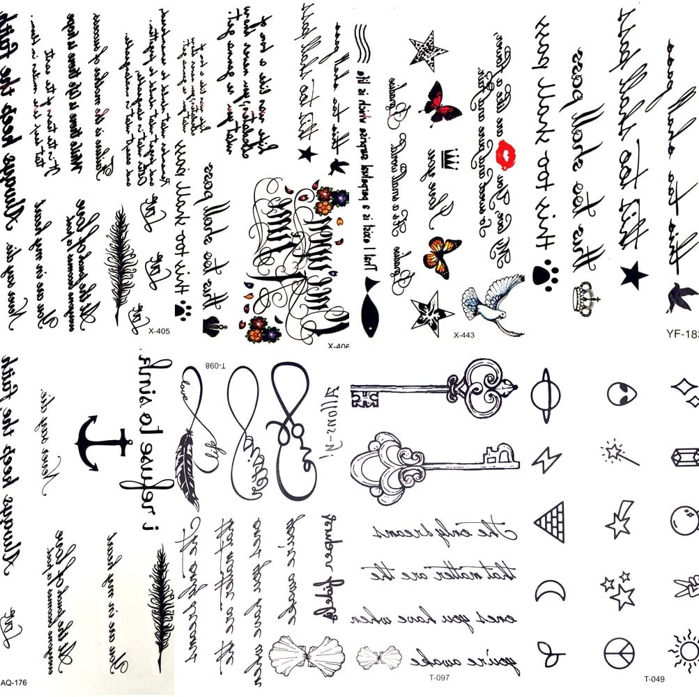 Text Tattoos   Tattoo Designs For Men   Free Global Delivery
