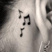 Waterproof Temporary Tattoo Sticker On Ear For Women