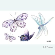 3D Butterfly Fake Tattoo For Women
