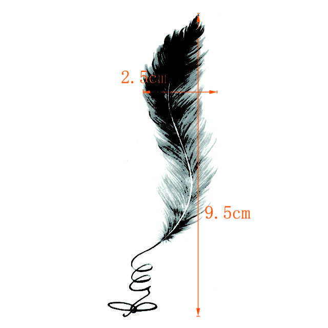 Elegant Feathers Waterproof Temporary Tattoo Sticker maquiagem Fake TattooThe flash Kids Tatoo Stickers Tatuaje Cheap Stuff