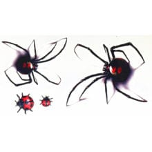 TOMTOSH 3d waterproof temporary tattoo stickers Black Spider designs Flash Temporary Tatoo fake 1sheet small neck tattoos Body A
