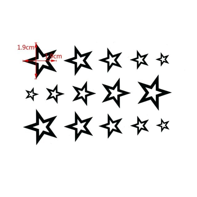 3D Star Waterproof Temporary tattoos sticker body Man's Half Sleeve Arm star Temporary Totem Tattoo Stickers Body Art Tatoo