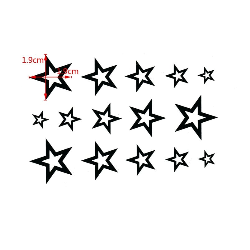 3D Star Waterproof Temporary tattoos sticker body Man's Half Sleeve Arm star Temporary Totem Tattoo Stickers Body Art Tatoo