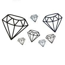 Black Diamond Waterproof Temporary Tattoos Sticker