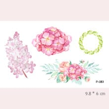 Watercolor Flower Waterproof Temporary Tattoo Stickers For Adults