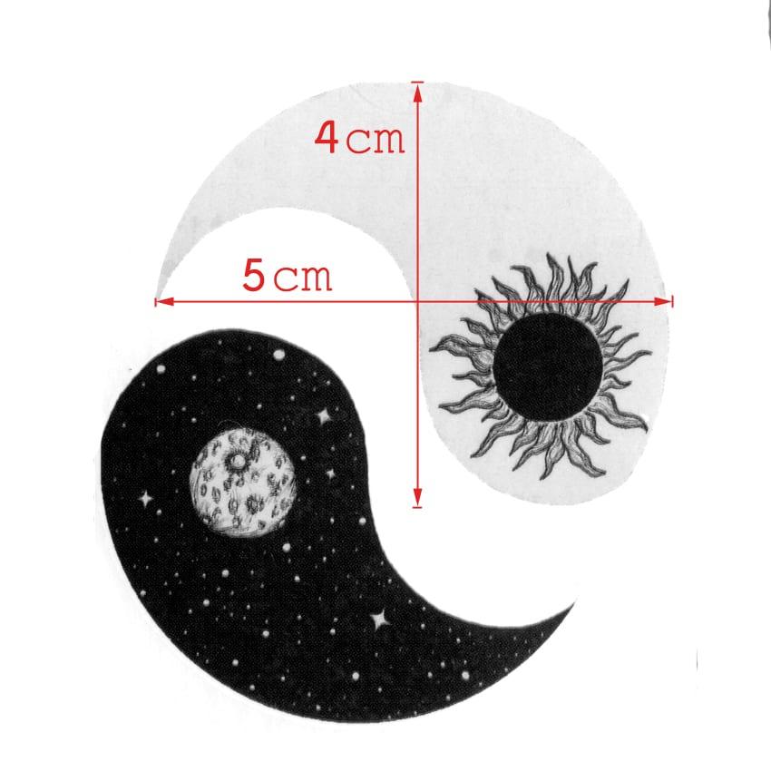 Sun and Moon Yin and Yang Waterproof Temporary Tattoos Sticker For Men And Women Body Art Tattoo Beauty Temporaryt Tatoo