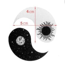 Sun and Moon Waterproof Temporary Tattoos Sticker For Men