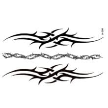 Bracelet Style Black Waterproof Temporary Tattoos For Men
