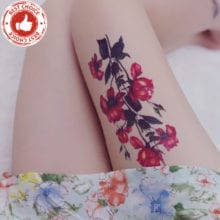 Pomegranate Flowers Temporary Flash Tattoos Sticker
