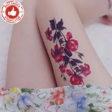 Rocooart QC678-698 women makeup tatuajes tattoo sleeves Body Art pomegranate Flowers Temporary Flash Tatoos Sticker tatuagem