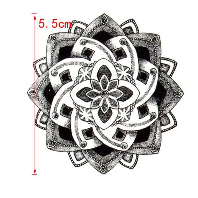 Lotus Flower Waterproof Temporary Tattoos Men harajuku henna tattoo Beauty Sleeve Tatoo sticker for woman rouge a levre fake