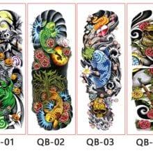 Full Flower Arm Tattoo Sticker For Trendy Girls